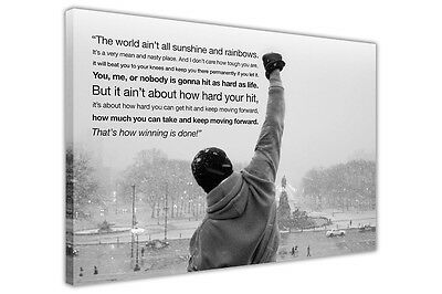 Rocky Balboa Movie Quote Wall Pictures Canvas Art Print Decoration Boxing Sports • 14.99£