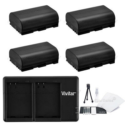 4x LP-E6 Replacement Battery & USB Dual Charger For Canon EOS 7D 60D 5D Mark III • 33.29£