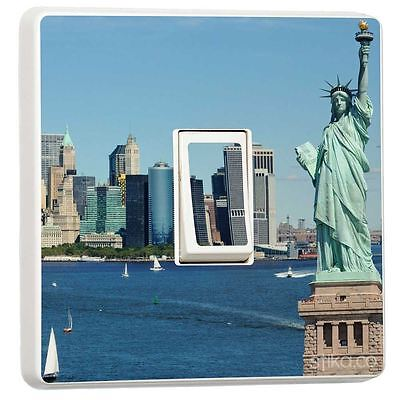 Liberty Statue New York Single Light Switch Sticker Vinyl Cover Skin By Stika.co • 2.49£