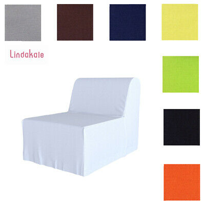 Custom Made Cover Fits IKEA LYCKSELE Chair Bed, Replace Sofa Cover, 47 Fabrics • 54.99£