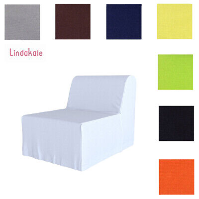 Custom Made Cover Fits IKEA LYCKSELE Chair Bed, Replace Sofa Cover, 47 Fabrics • 32.99£