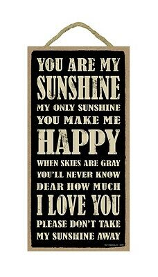 YOU ARE MY SUNSHINE Primitive Wood Hanging Plaque 5  X 10  • 7.86£
