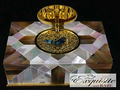 £6225.48 • Buy NEW REUGE Mother Of Pearl Singing Bird Box Automaton *VIDEO*