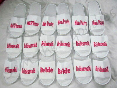 £3.99 • Buy Personalised Slippers ,Adult/kids Wedding Bride, Hen Party , Bridesmaidnovoltey