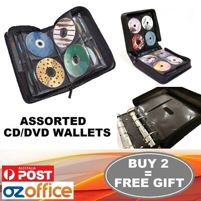 AU39.95 • Buy DISC Holder CD DVD Storage Case Wallet Leather Album Folder 24 40 96 400