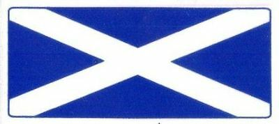 Scotland Flag (Saltire Cross) - Car Window Sticker Clear Vinyl Window Use • 1.99£