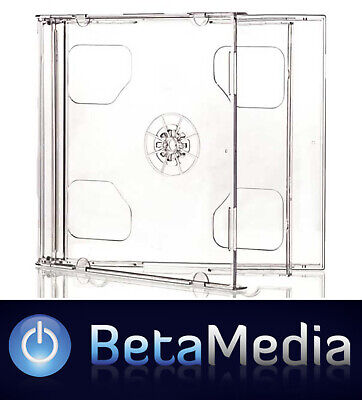 AU13.50 • Buy 5 X Double Jewel CD Cases With Clear Tray - Australian Standard Size Case