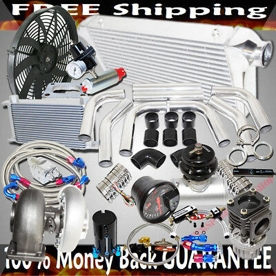 $1045 • Buy GT45 Turbo 3  Intercooler +Piping+BOV+Oil Cooler Kits Stage III High Performance