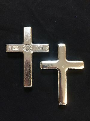 $ CDN229.09 • Buy 5oz YPS  Cross  999+ Fine Silver Bullion Bar  Yeager's Poured Silver