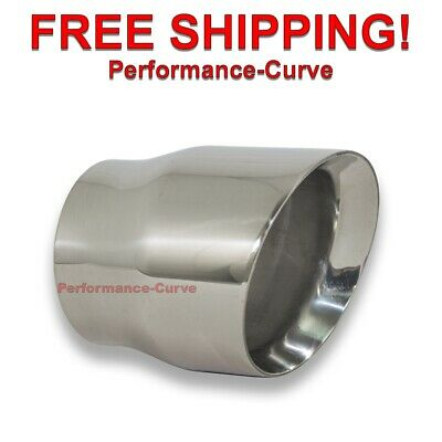 $ CDN46.92 • Buy Diesel Race Stainless Steel Exhaust Tip DW Angle- 4  In - 5  Out - 6  Long