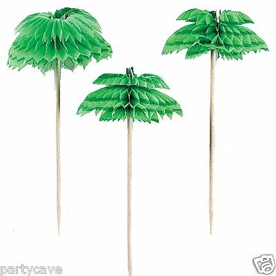 Hawaiian  Luau  Garden Beach Party Palm Tree Cocktail Stick Picks Decoration  • 2.95£