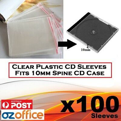 AU9.90 • Buy 100 X PP Plastic Sleeve Cellophane Wrapping Fits Standard 10.2mm CD Case Digipak
