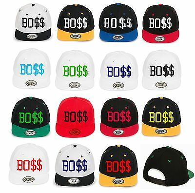 NEW BASEBALL CAP HAT SNAPBACK BO$$ Caps EMBROIDERED In UK • 11.24£
