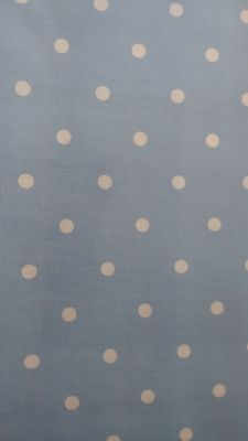 £6.99 • Buy Clarke And Clarke COTTON Wipe Clean Tablecloth Oilcloth PVC Dotty Powder Blue