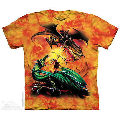 £24.99 • Buy THE DUEL The Mountain T Shirt Fighting Dragons Fantasy Unisex