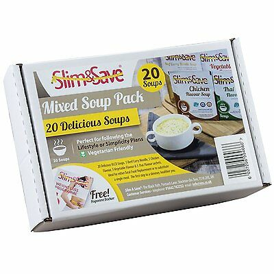£24.99 • Buy 20 Slim & Save Soups -  VLCD Mixed Soup Deal With 4 Flavours, Meal Replacement