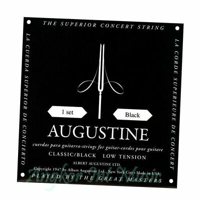 $ CDN24.08 • Buy Augustine Classic Black  Classical Guitar Strings Low Tension