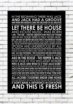 £10.50 • Buy Large Fingers Inc Jack Had A Groove Port Wall Art Typography Song Lyrics Verse