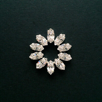 10 X PRECIOSA Crystal Sew-on Rhinestones/Diamantes/Jewels. 10 X 5mm - Navettes.  • 8£