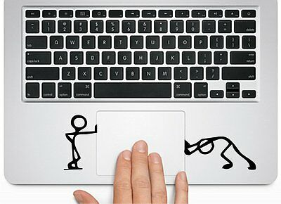 $7.66 • Buy Pushing Standing Silhouette For Macbook Trackpad Laptop Chromebook Decal Sticker