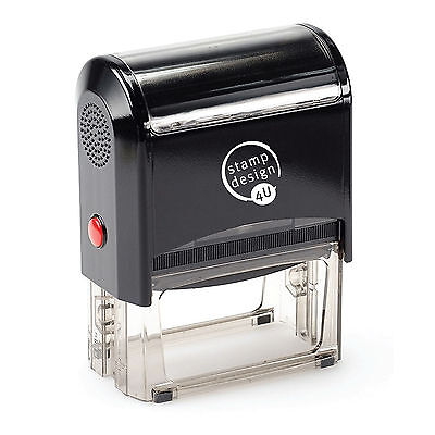 Personalised Rubber Stamps, Self Inking, Name Address Business Garage School Etc • 12.50£