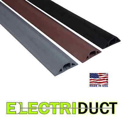 D-22 Rubber Duct Wire Cable Cord Floor Cover Protector - 5 FT 10FT - Electriduct • 29.32£