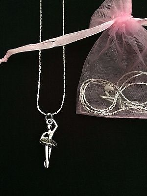Ballet Dancer, Ballerina Necklace, Birthday Party Bag/Gift Filler, Dancing/Tutu • 1.85£