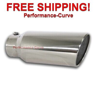 $ CDN84.51 • Buy Diesel Stainless Steel Bolt On Exhaust Tip 5  Inlet - 7  Outlet - 18  Long