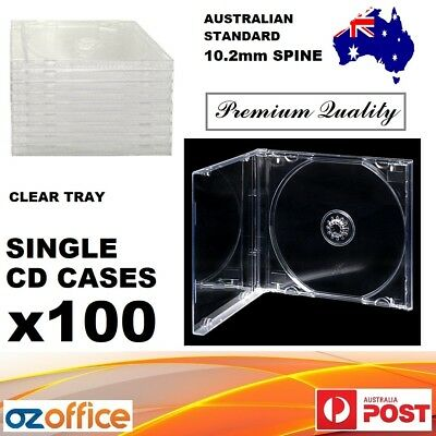 AU49.90 • Buy Premium Quality 100 X Jewel CD Case Standard Size CLEAR TRANSPARENT With Tray