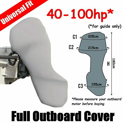 AU54 • Buy 40-100hp Full Outboard Boat Motor Engine Cover Dust Rain Protection Grey