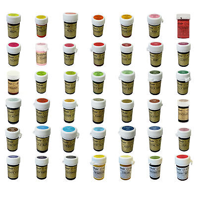 * Any 6 * Sugarflair Paste Edible Gel Concentrated Icing Food Colouring Colour • 13.39£