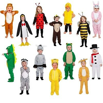 Animal Toddler Fancy Dress Kids Playsuit Costume Girls Boys Party Outfit Age 3+ • 6.99£