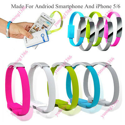 $0.82 • Buy Micro/USB Cable Bracelet Wristband Charger Charging Data Sync Cord Quality