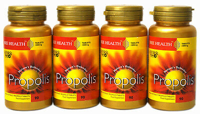 £36.85 • Buy 4 X Bottles Bee Health PROPOLIS 1000mg X 90 Tablets  Healthy Immune System
