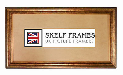 £18.99 • Buy Skelf Frames Gold Antique Effect Panoramic Picture Photo Poster Frame With Glass