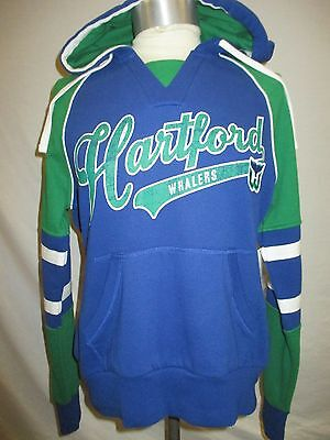f8402a453 Hartford Whalers NHL Women s M Blue   Green Vintage Pullover Hoodie NHL •  31.99