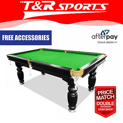 AU1209.99 • Buy 7ft Luxury Slate Solid Timber Billiards / Pool Table Green Felt Black Beam