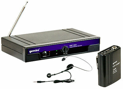 Microphone Gemini VHF-1001 Hl Transmitter Dynamic Arched + Lavalier • 76.80£
