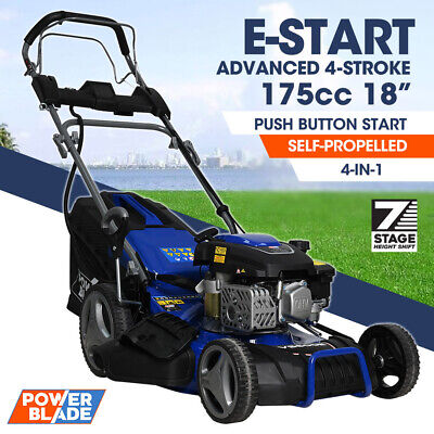 AU538 • Buy 【EXTRA15%OFF】POWERBLADE Lawn Mower 18 175cc Electric Start Petrol