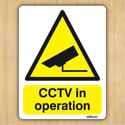 CCTV In Operation - Camera Warning Sticker 10cm X 13cm - CLEAR Vinyl By Stika.co • 2.99£