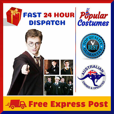 AU21.95 • Buy Harry Potter Kids Adult Robe Cloak Gryffindor Slytherin Hufflepuff Raven Costume