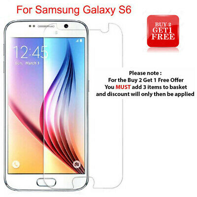 $ CDN3.51 • Buy For Samsung Galaxy S6 - 100% Genuine Tempered Glass Film Screen Protector Cover