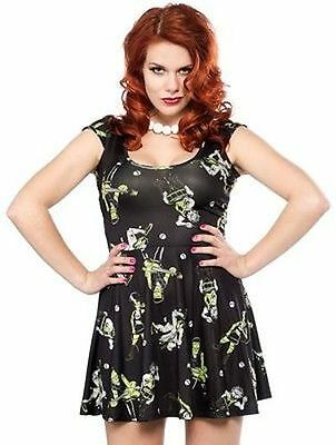 1f6c2cc04f Sourpuss Monster Mosh Emo Goth Retro 50S Punk Pinup Tattoo Skater Dress  S-Xxl •