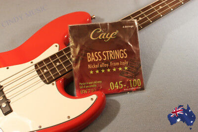 AU17 • Buy HIGH QUALITY Electric Bass Guitar Strings - Light Gauge 4 Strings .045-.100 NEW