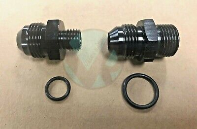 AU28.32 • Buy Bosch 044 Fuel Pump Inlet & Outlet Fittings Black 8 AN -8 E85 Compatible