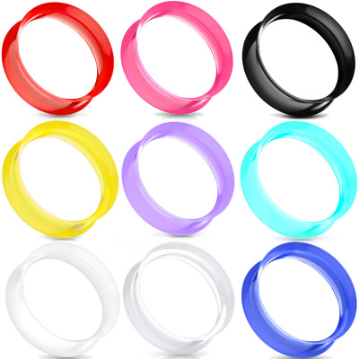 $4.99 • Buy PAIR-ULTRA THIN SKINS TUNNELS-Silicone Ear Skins-Ear Gauges-Soft Ear Plugs