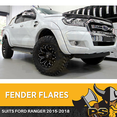 AU329 • Buy Ford Ranger Flares KIT 2015-2020 PX2 PX3 NONE SENSORS Fender Flares White