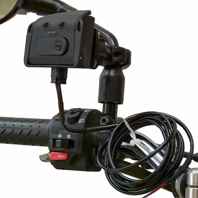 £82.99 • Buy BuyBits Hardwire Powered Motorcycle Mirror Mount Dock For TomTom Rider PRO