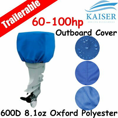 AU32.95 • Buy 60-100hp Half Outboard Boat Motor Engine Cover Dust Rain Protection Blue