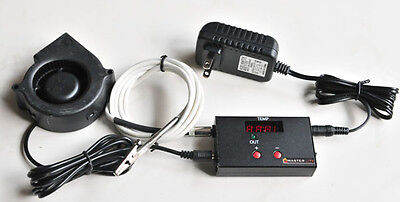 $ CDN107.69 • Buy Automatic Bbq Temperature Controller Charcoal Wood Smoker Grill Pit UDS Weber